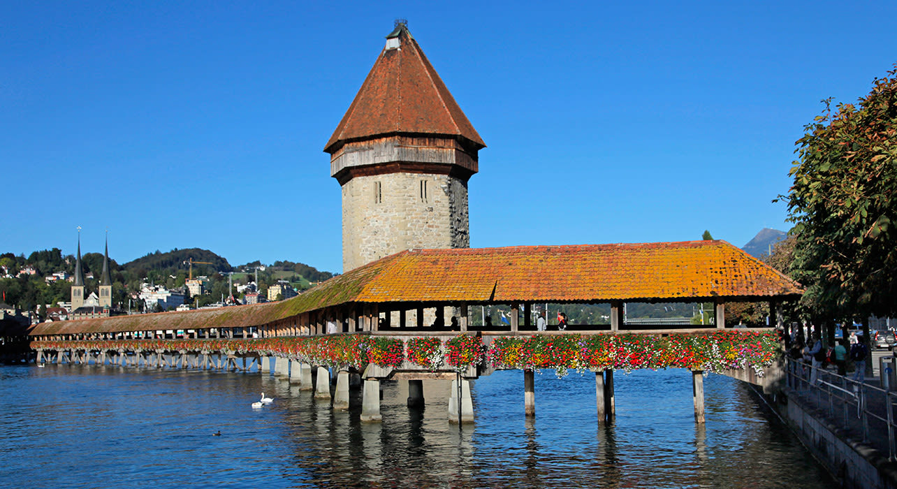 lucerne river bridge n tower