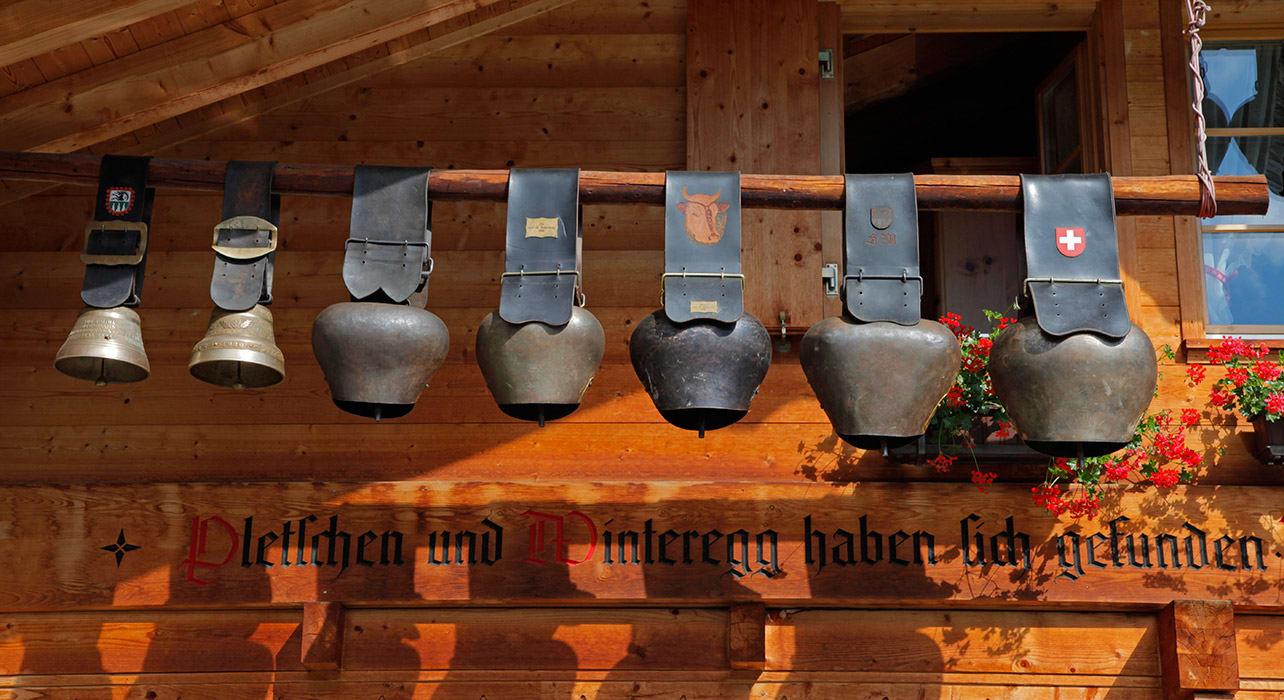 murren cow bells on house