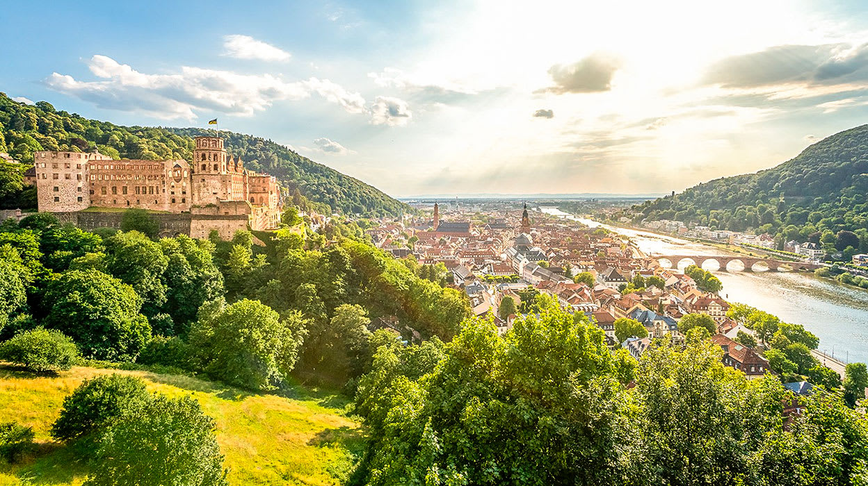 rhine river germany heidelberg view