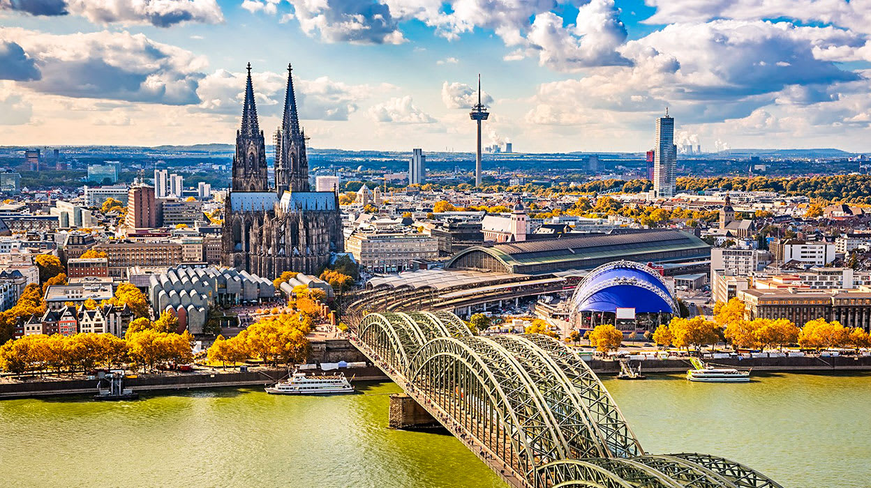 rhine river germany cologne bridge