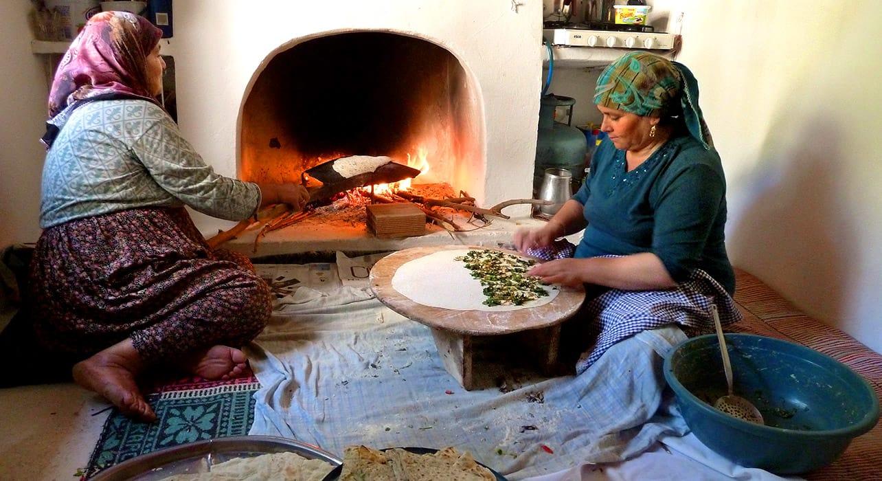 turkey women baking traditional turkish food