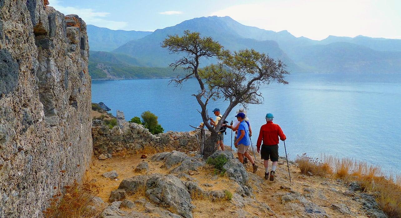 turkey hiking coastline ruins