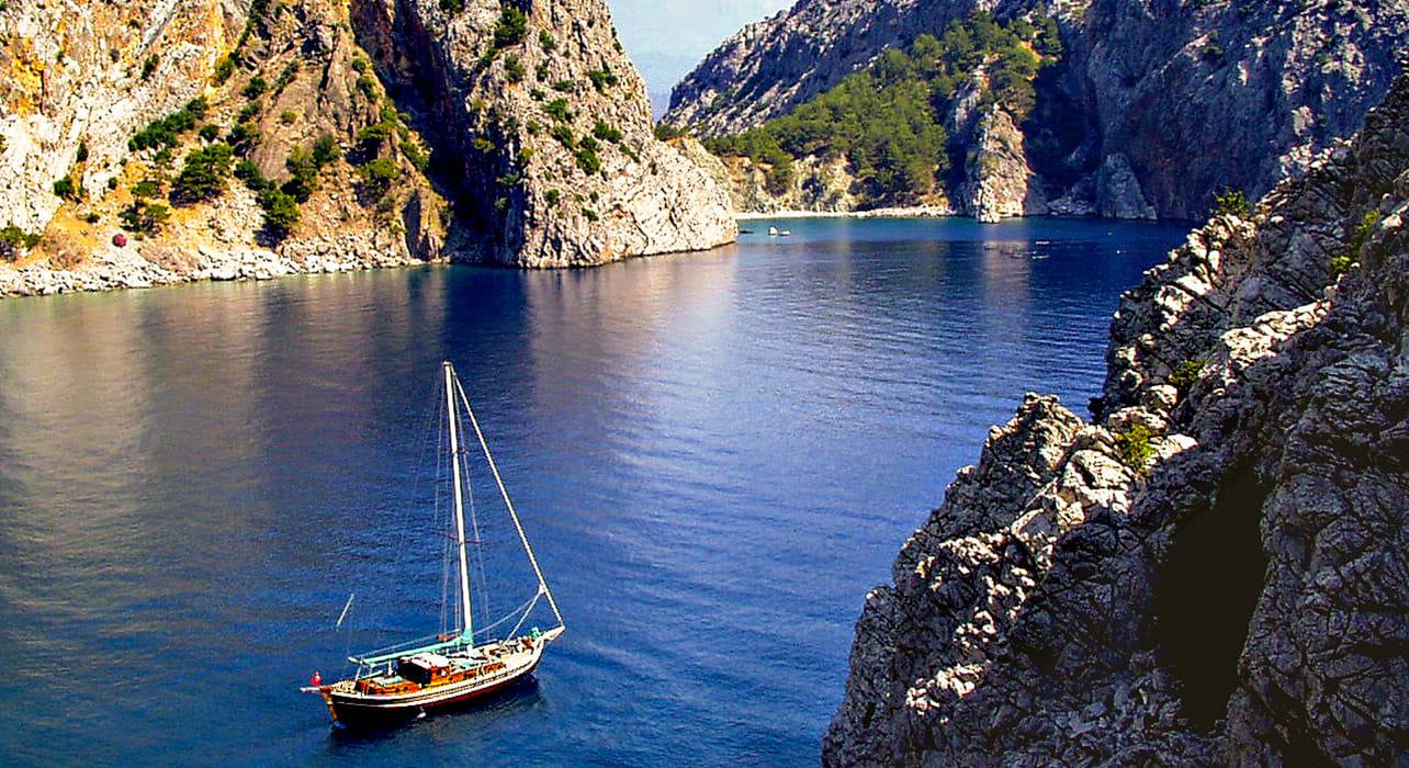 cavurali turkey boat turquoise coast