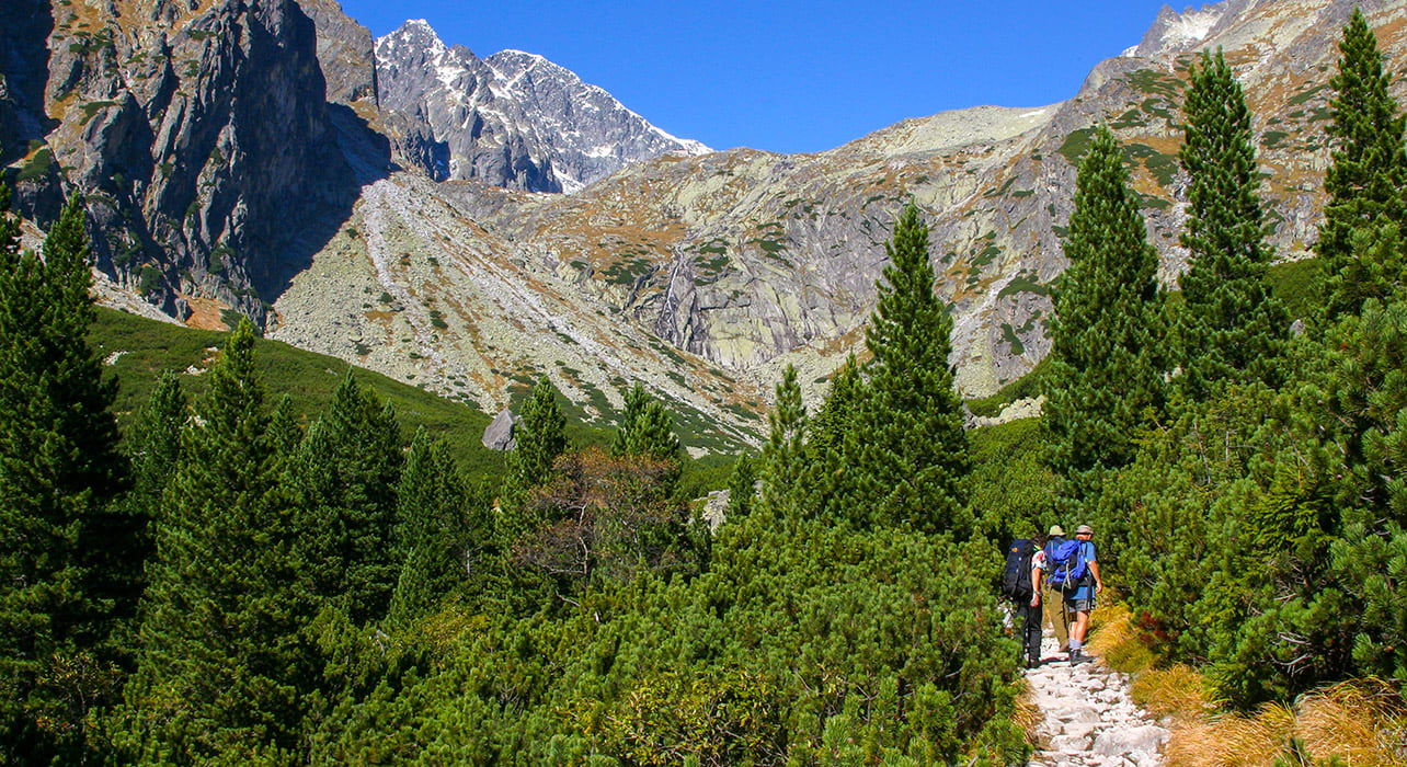 slovakia high tatras mts hikers