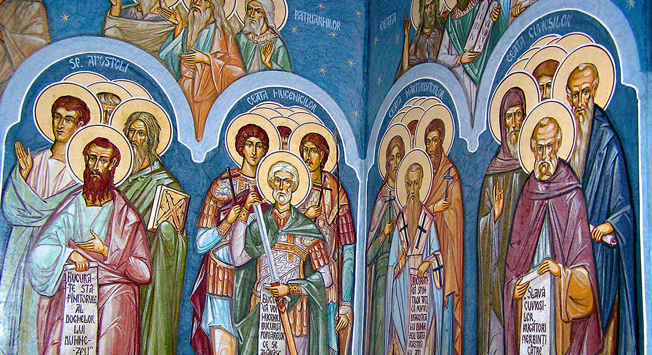 romania church frescoes painting