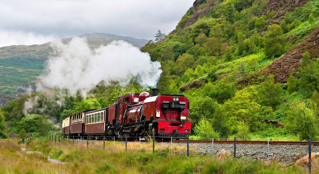 4 slide wales steam train pano