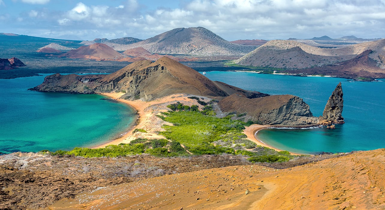 5 slide galapagos adventure view from bartolome island pano