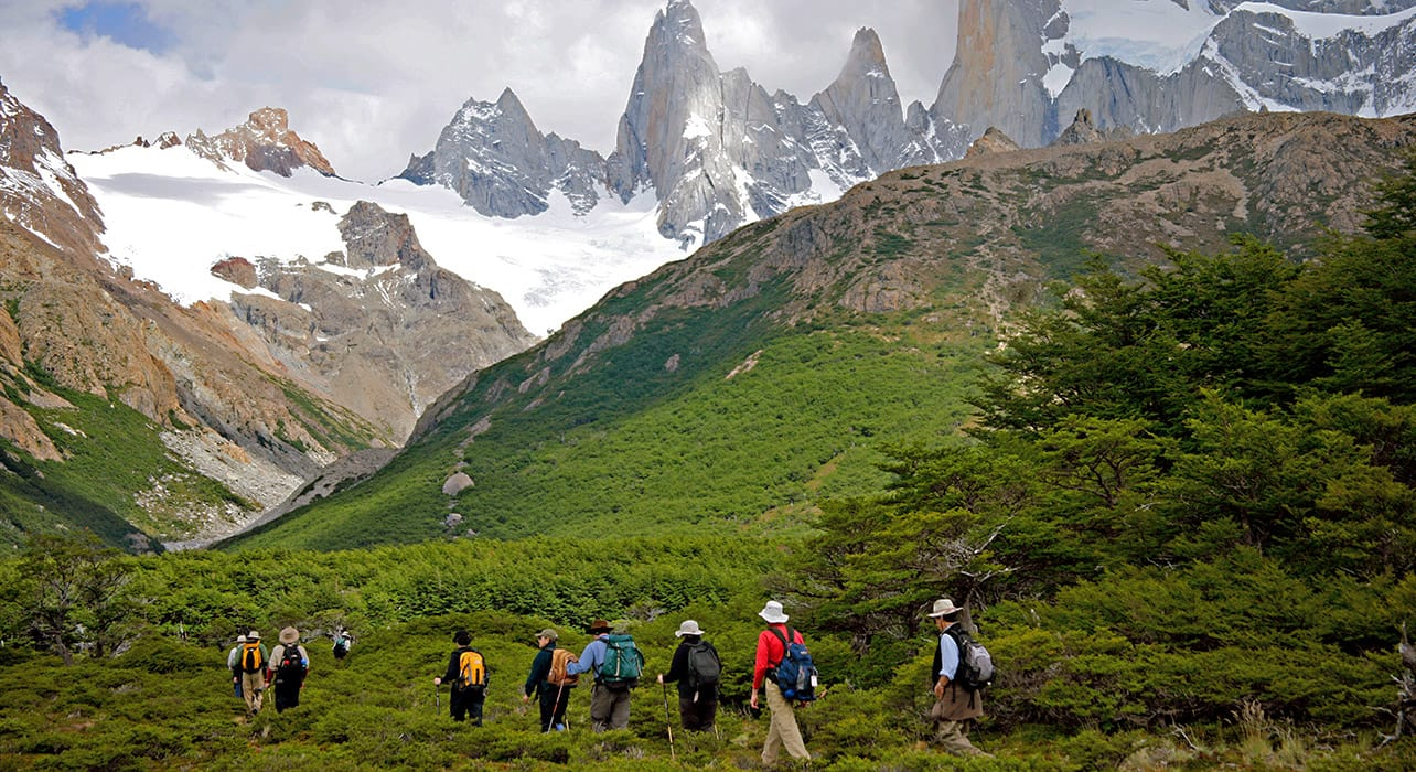 5 slide fitzroy hikers los glacieres national park pano