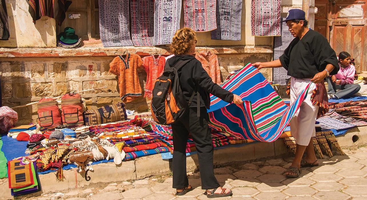 market tapestry bolivia