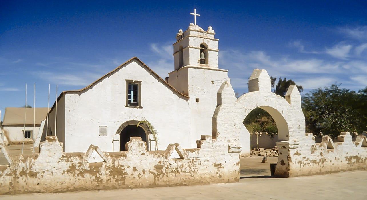 4 slide church in atacama desert pano