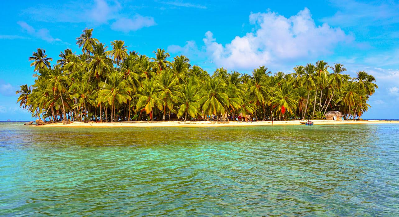 colombia kuna yala tropical island palm trees