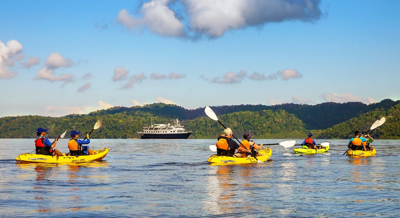 kayaking activities around safari voyager