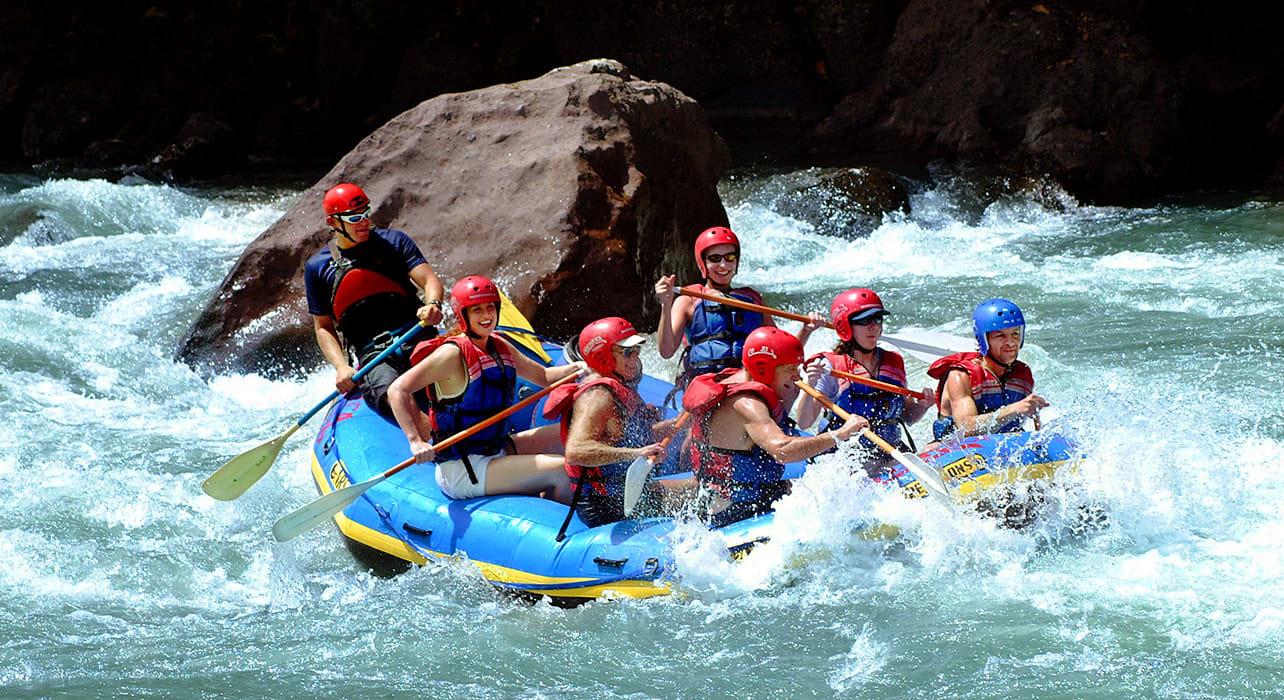 6 slide costa rica white water rafting pano