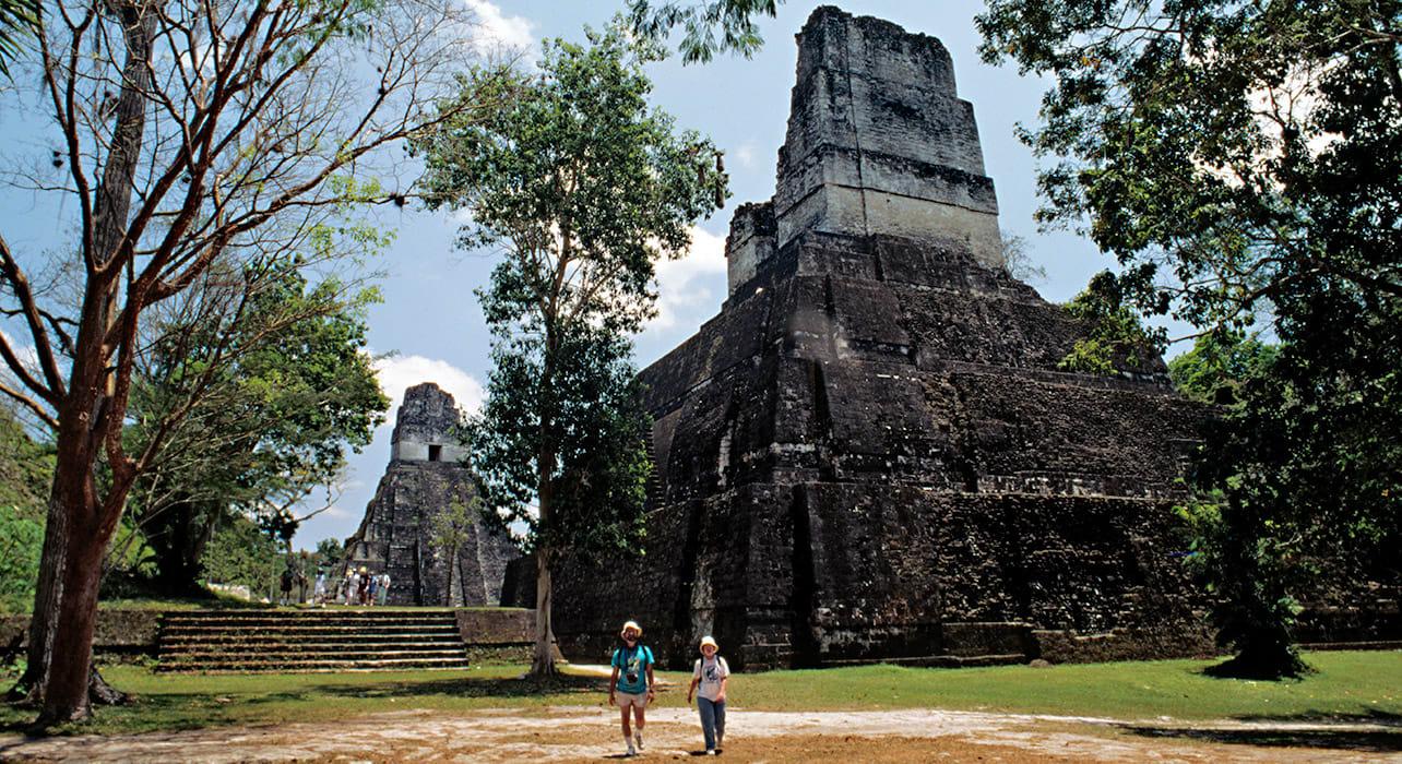 8 slide tikal guatemala ruins pyramids pano