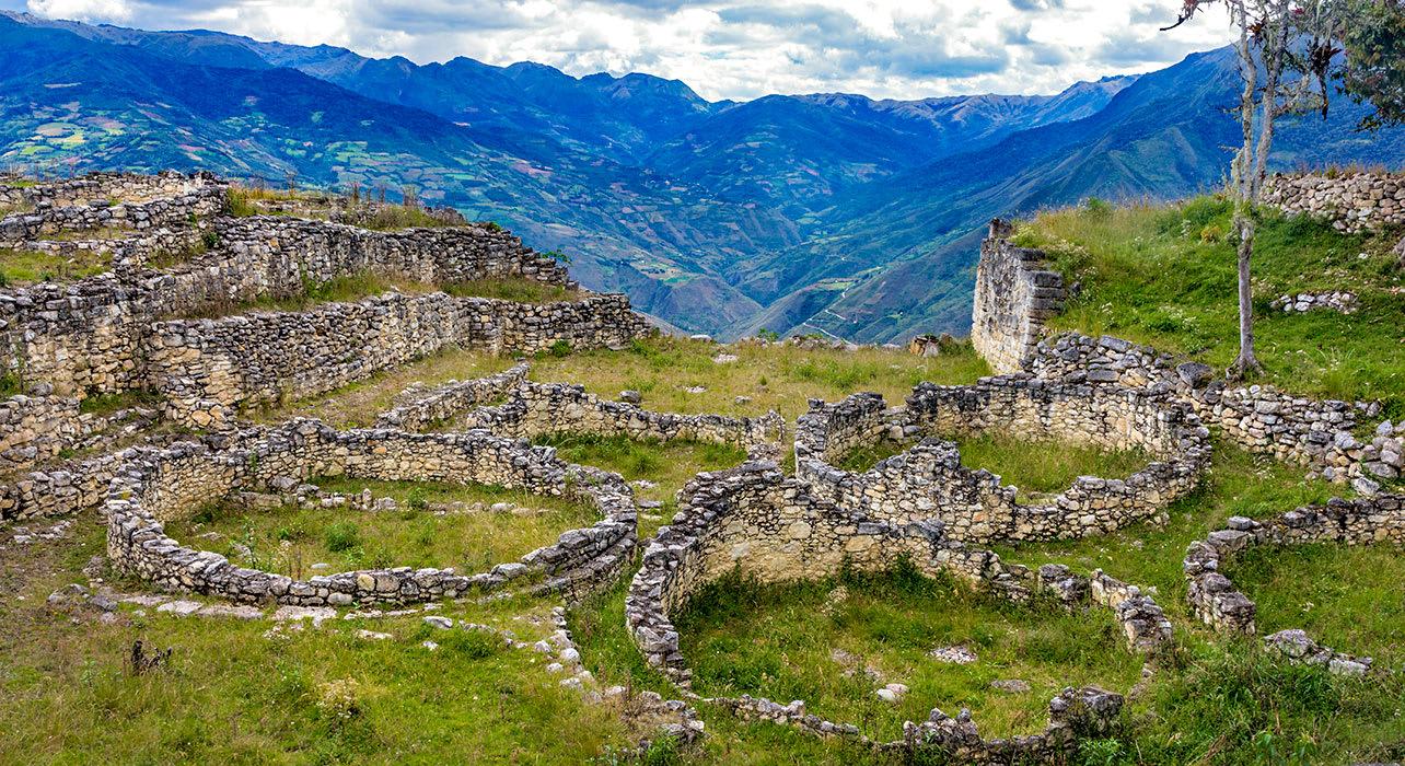 2 slide chachapoyas inca ruins ancient remote pano