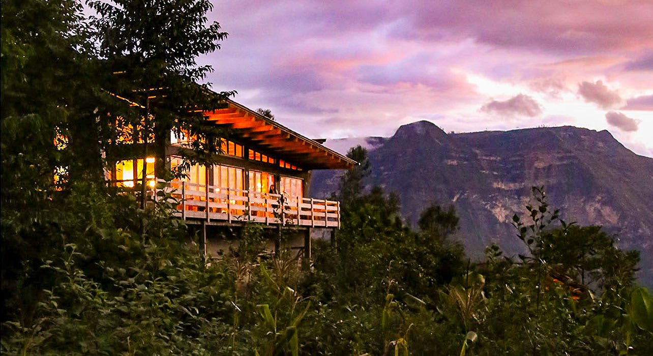 peru hotel evening mountain atardecer