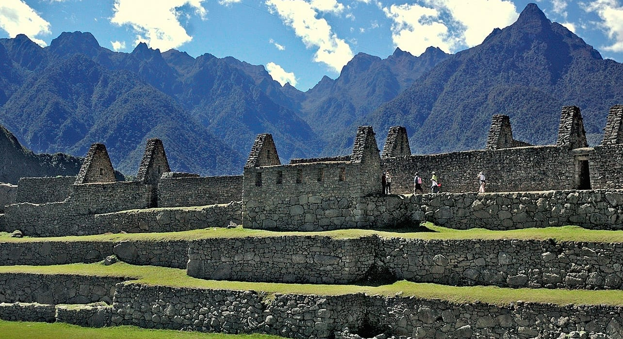 peru machu picchu city walls mountains