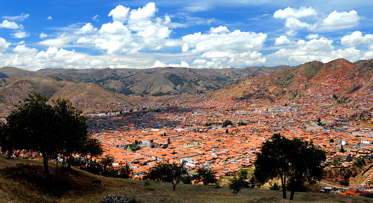 peru cusco from saqsayhuaman