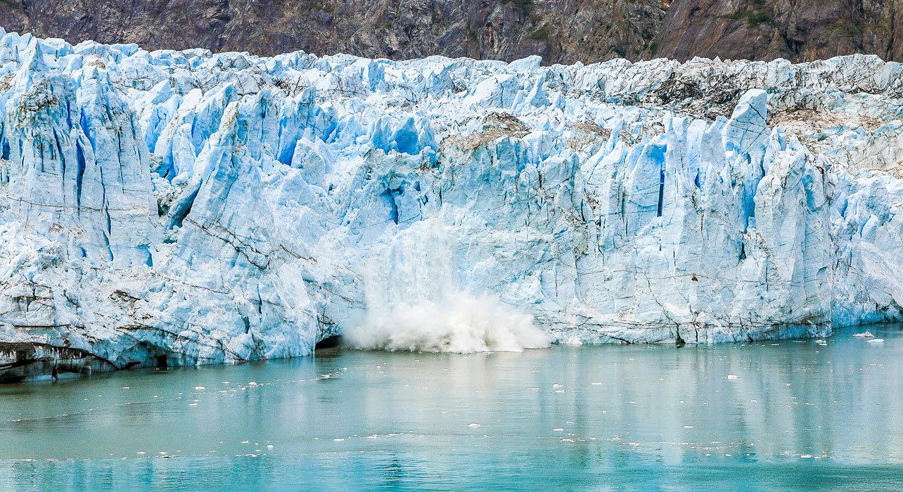 alaska glacier bay margerie glacier calving