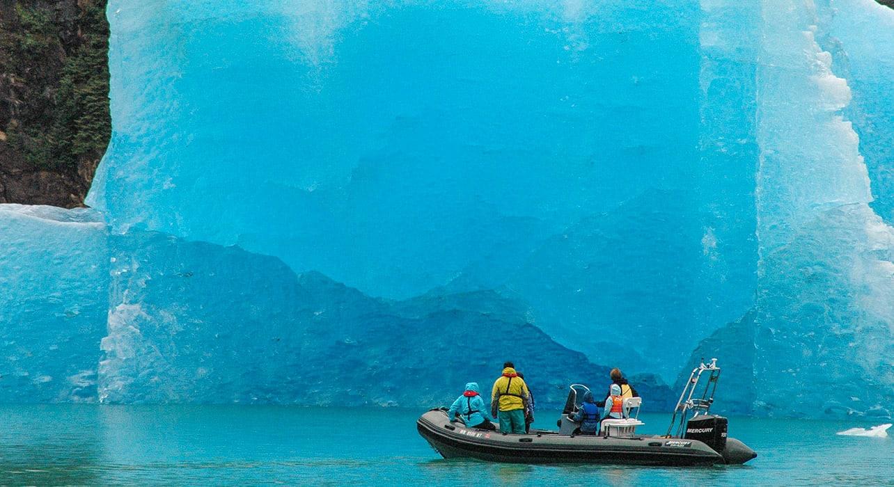alaska glacier boat