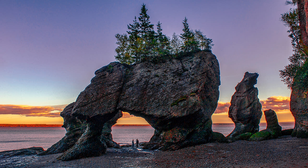 hopewell rocks fundy sunset