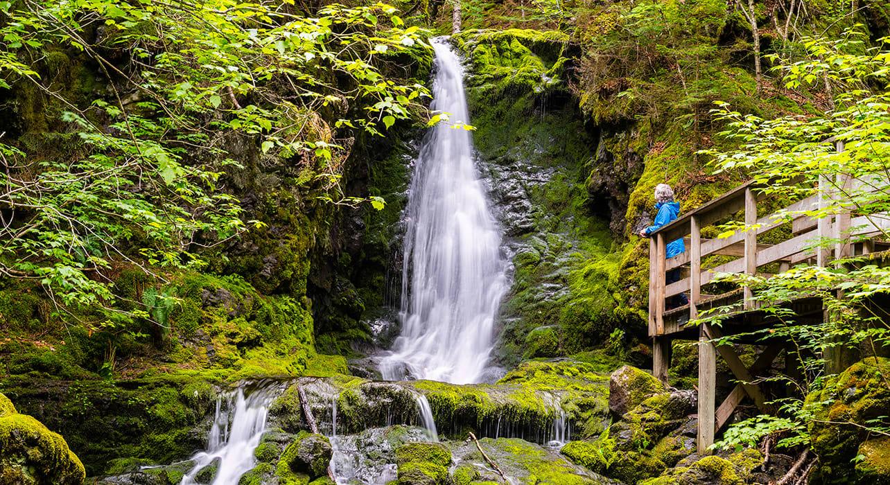 canada new brunswick fundy natl park waterfall
