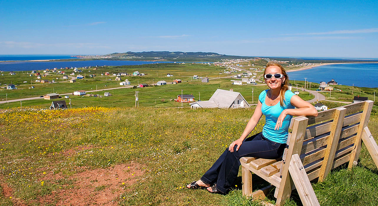quebec magdalen islands woman resting