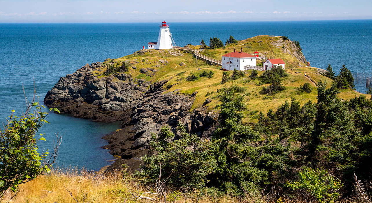 canada new brunswick grand manan swallow tail lighthouse