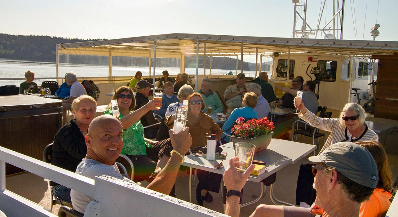 olympic san juan islands beer tasting onboard