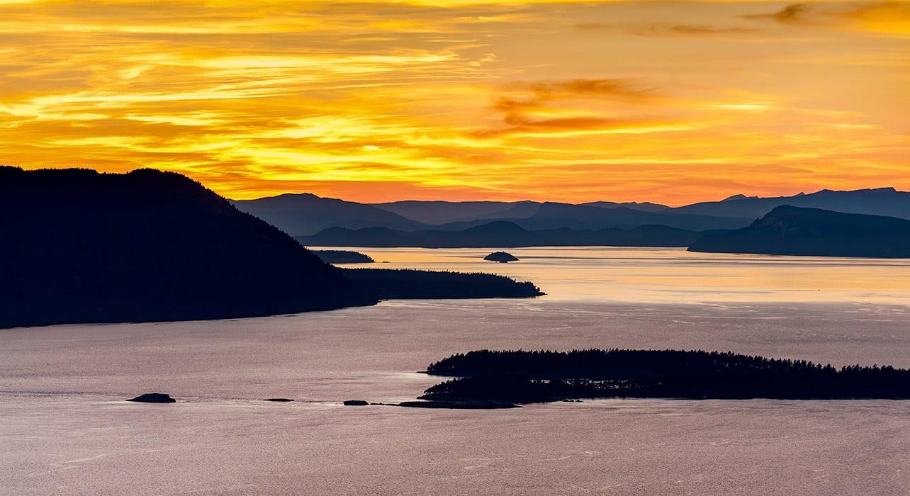 san juan islands orcas clark barnes sunset