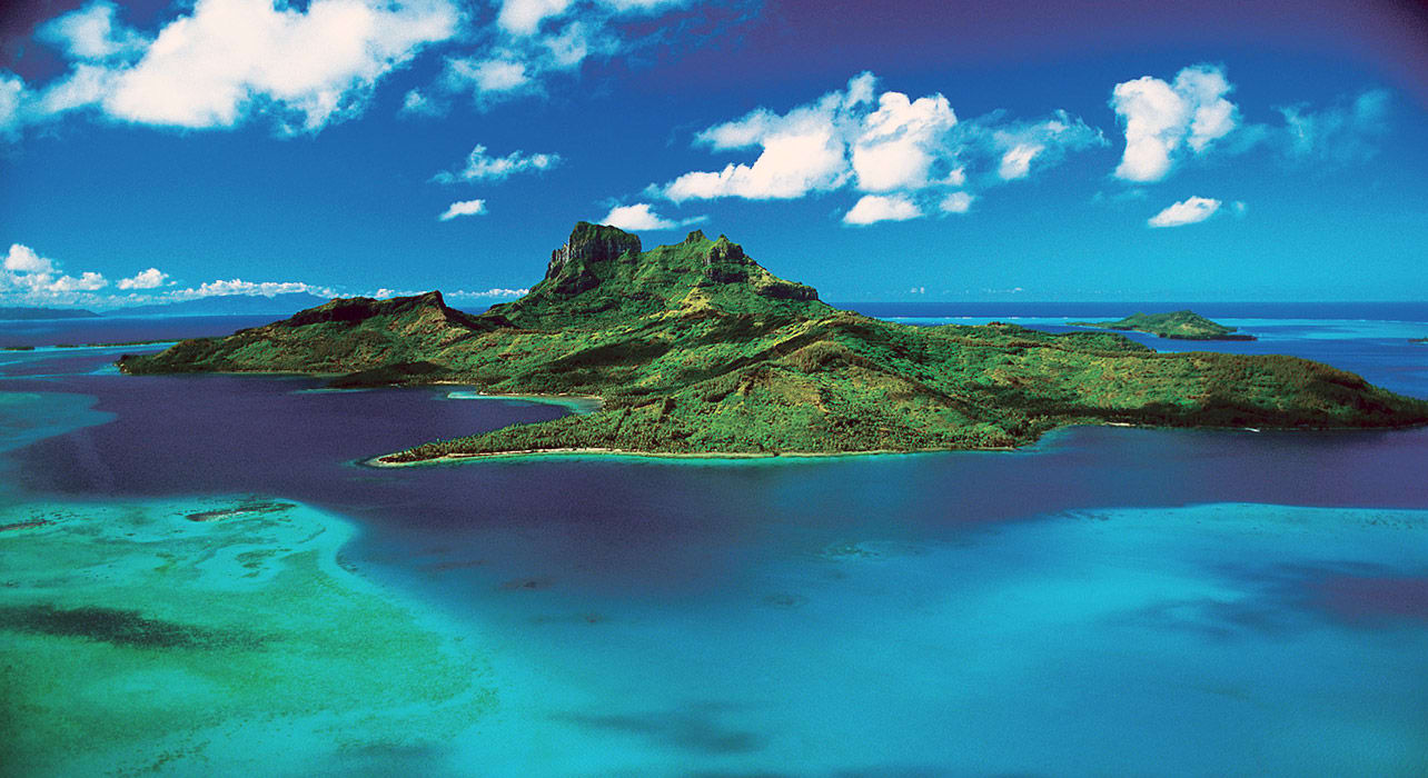 bora bora from paul gaugin