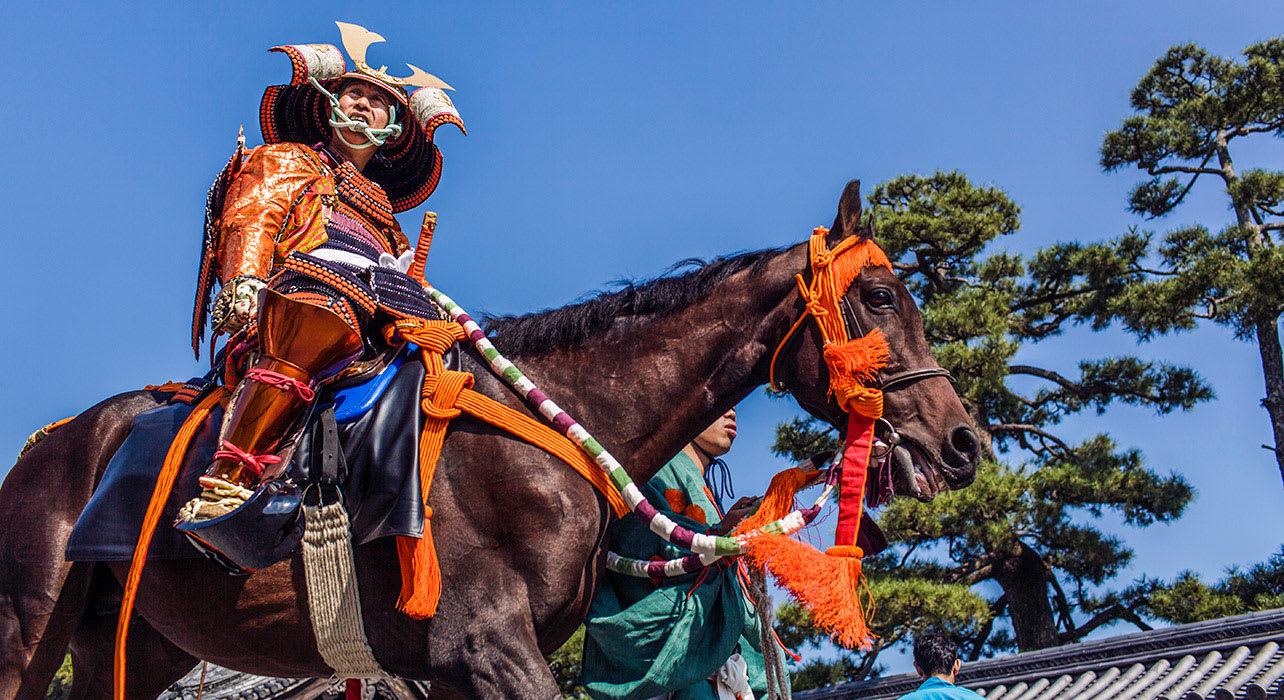 japan samurai festival horse