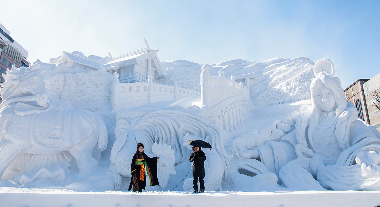 ice sculpture sapporro japan