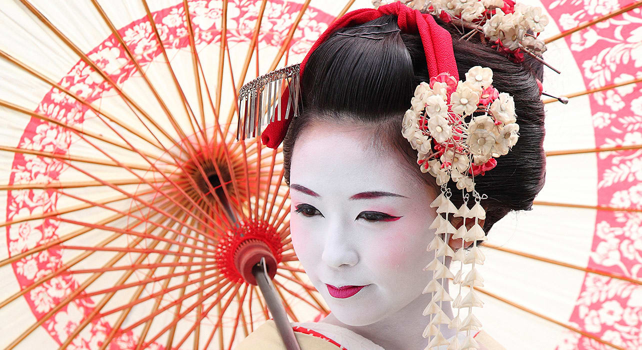 japan traditional dress parasol
