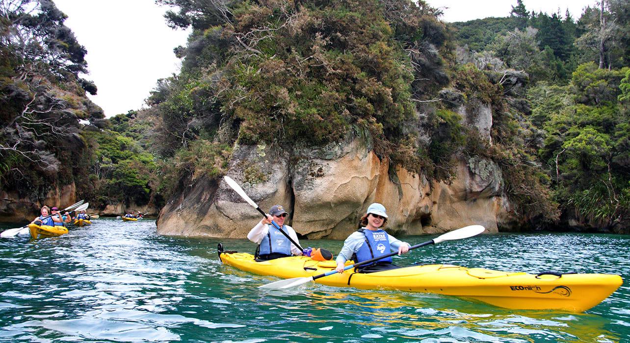 6 slide abel tasman kayakers pano