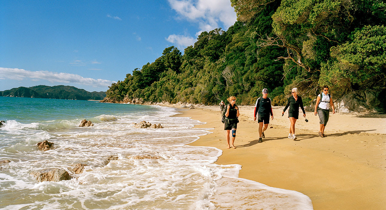 south island new zealand waiharakeke beach abel tasman park