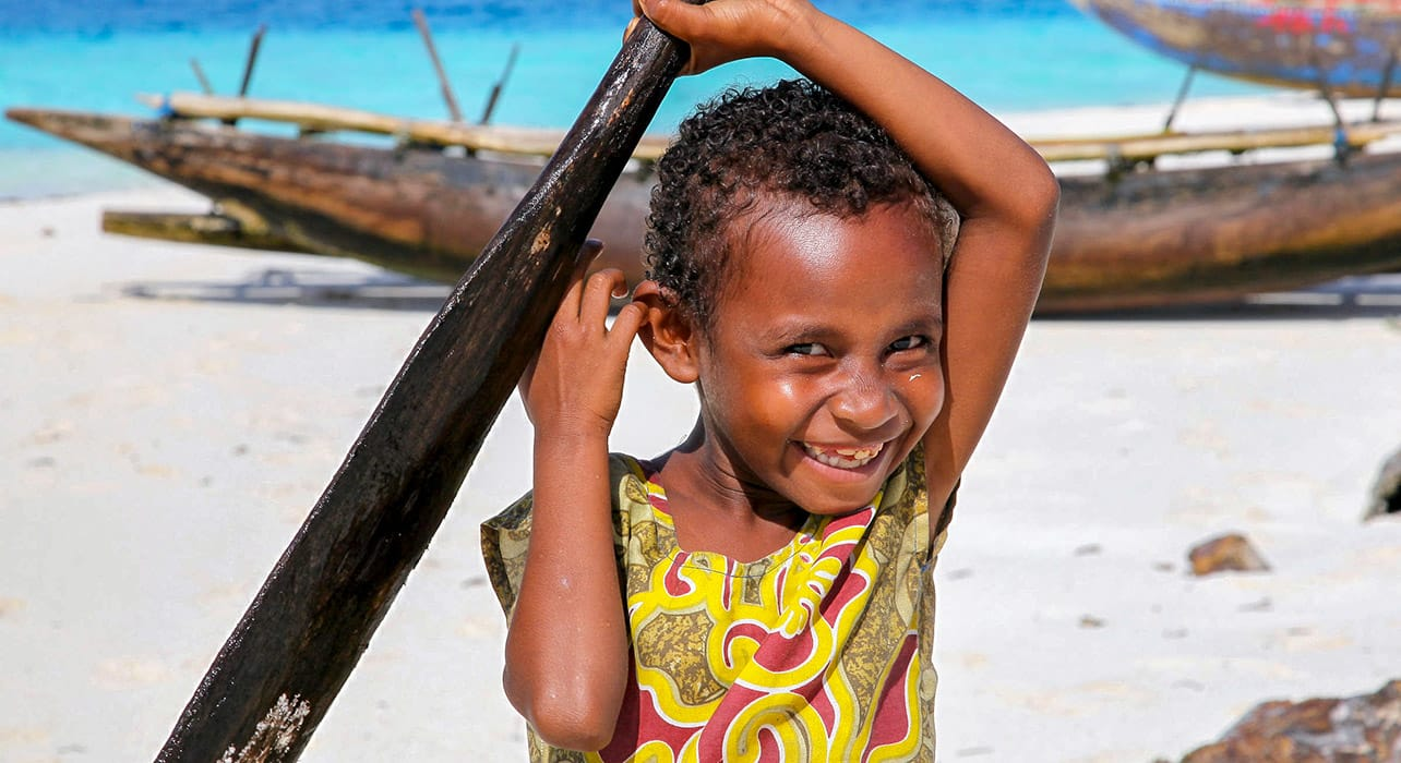 melanesia solomon islands papuang child