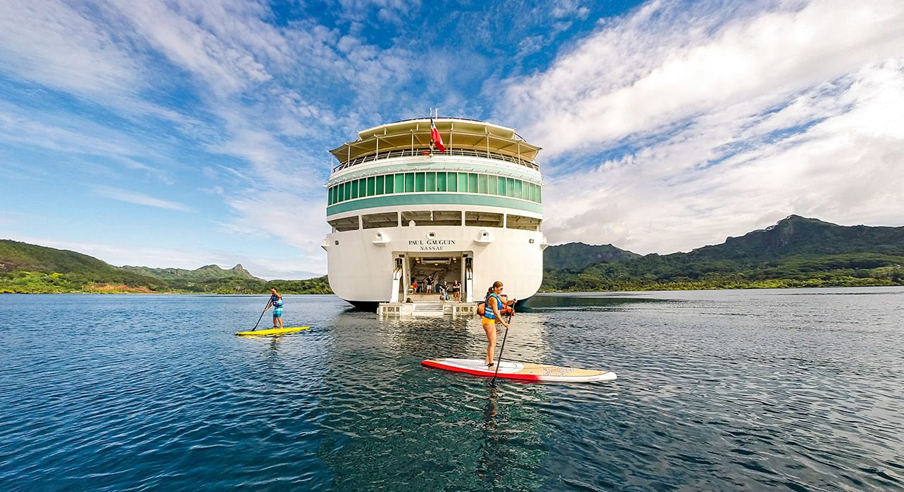 cook society islands ship paddleboard