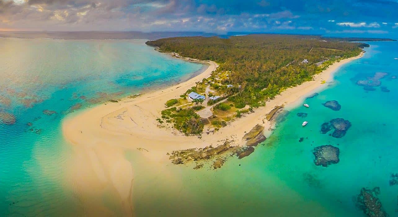 tonga island resort aerial