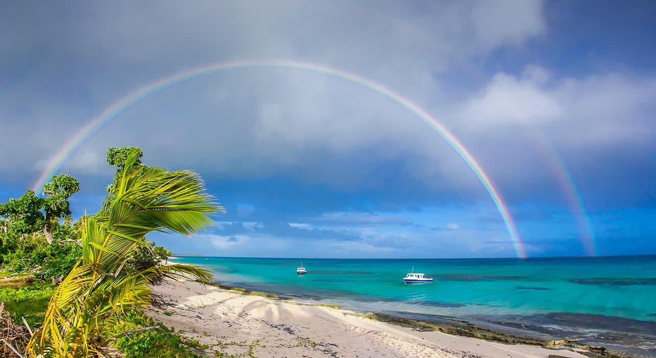 tonga beach rainbow