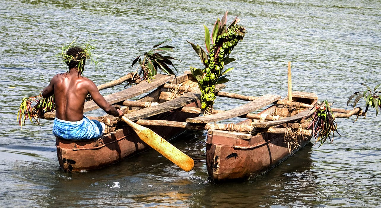 vanuatu outrigger canoe