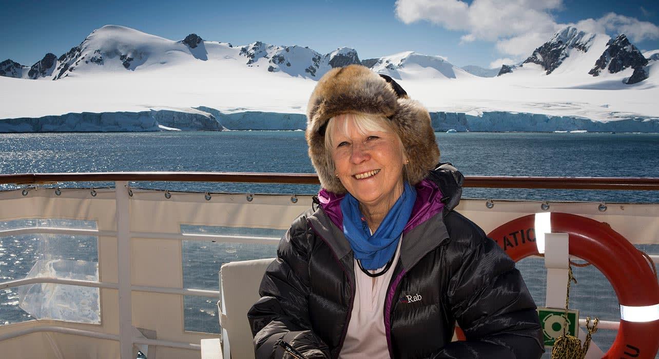 antarctica ship deck happy client