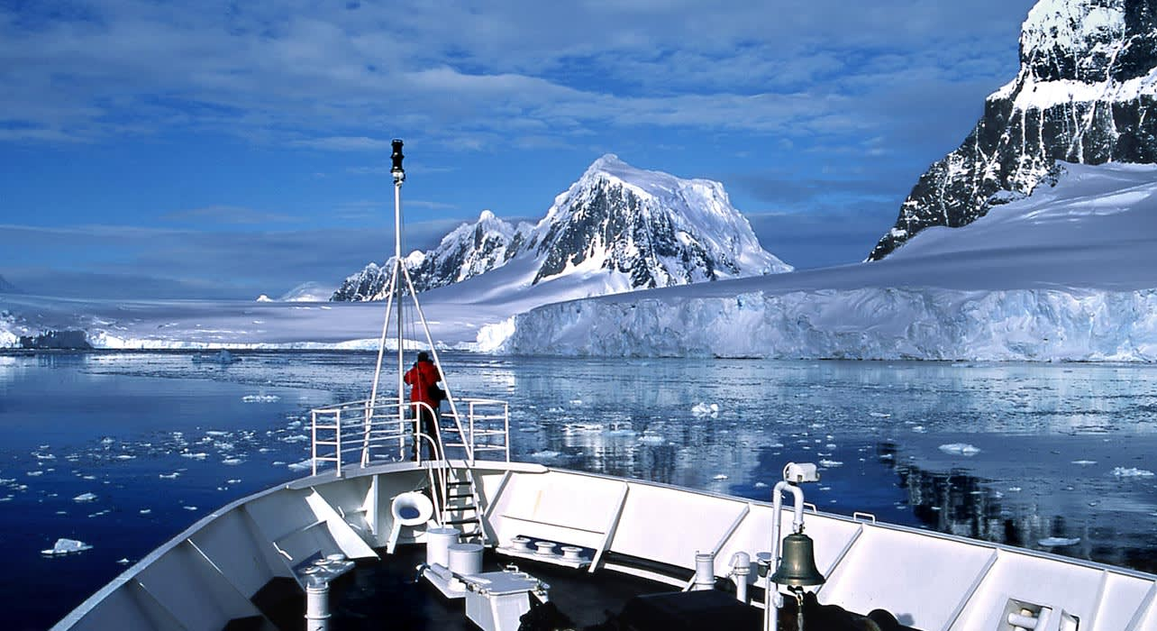 antarctica lemaire channel ship iceberg