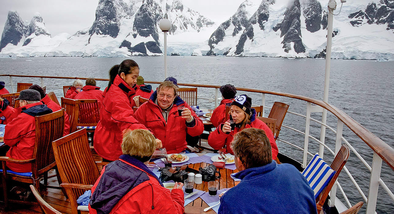 antarctica deck dining cruise ship