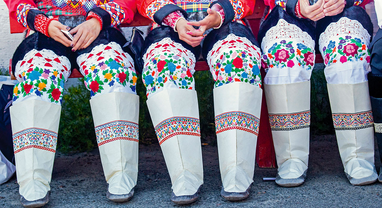 greenland traditional clothing boots cradj