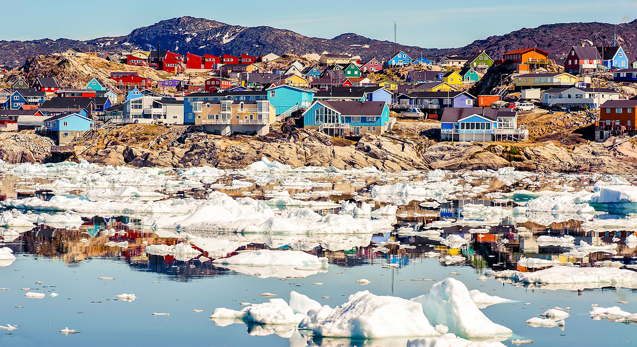 ilulissat greenland colorful houses