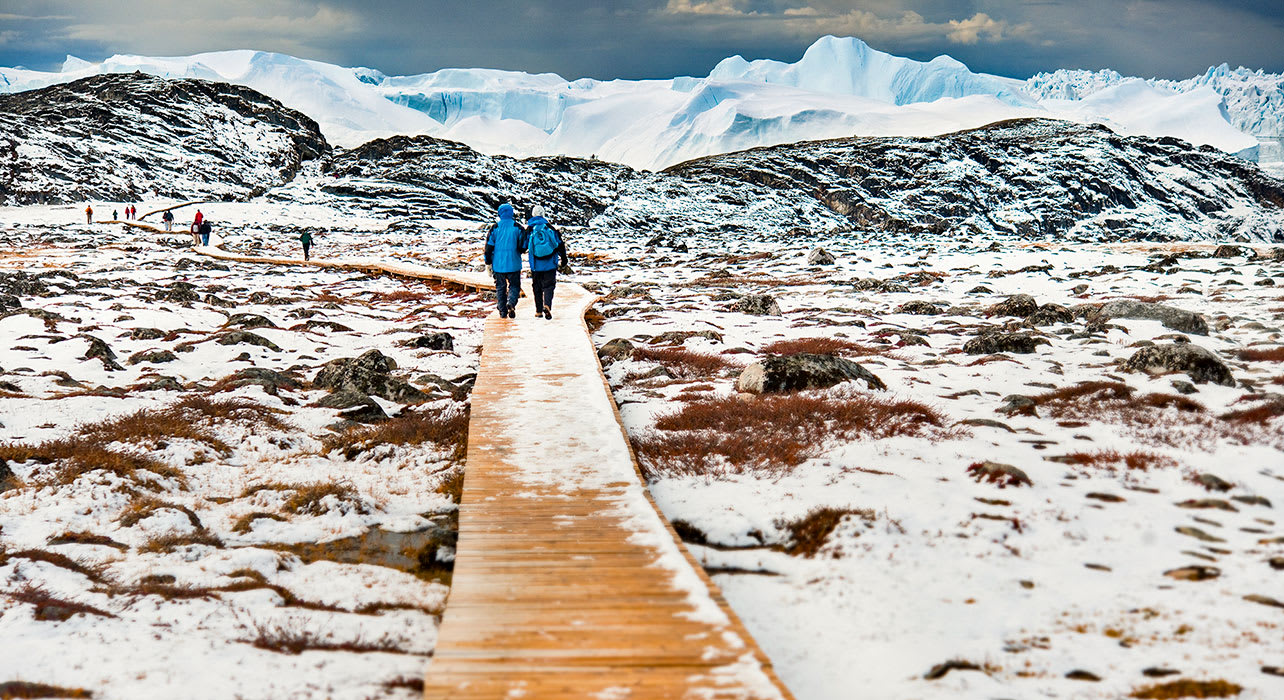 canada greenland boardwalk glaciers