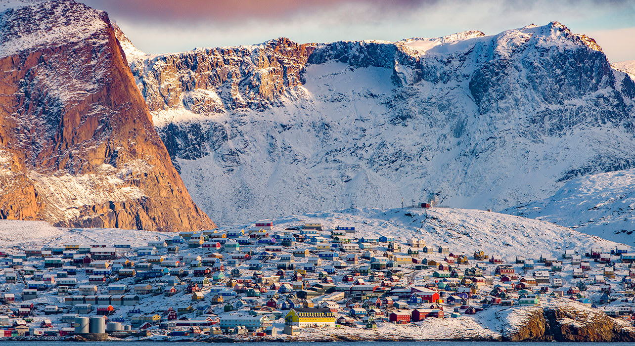 canada greenland northwest passage colorful houses