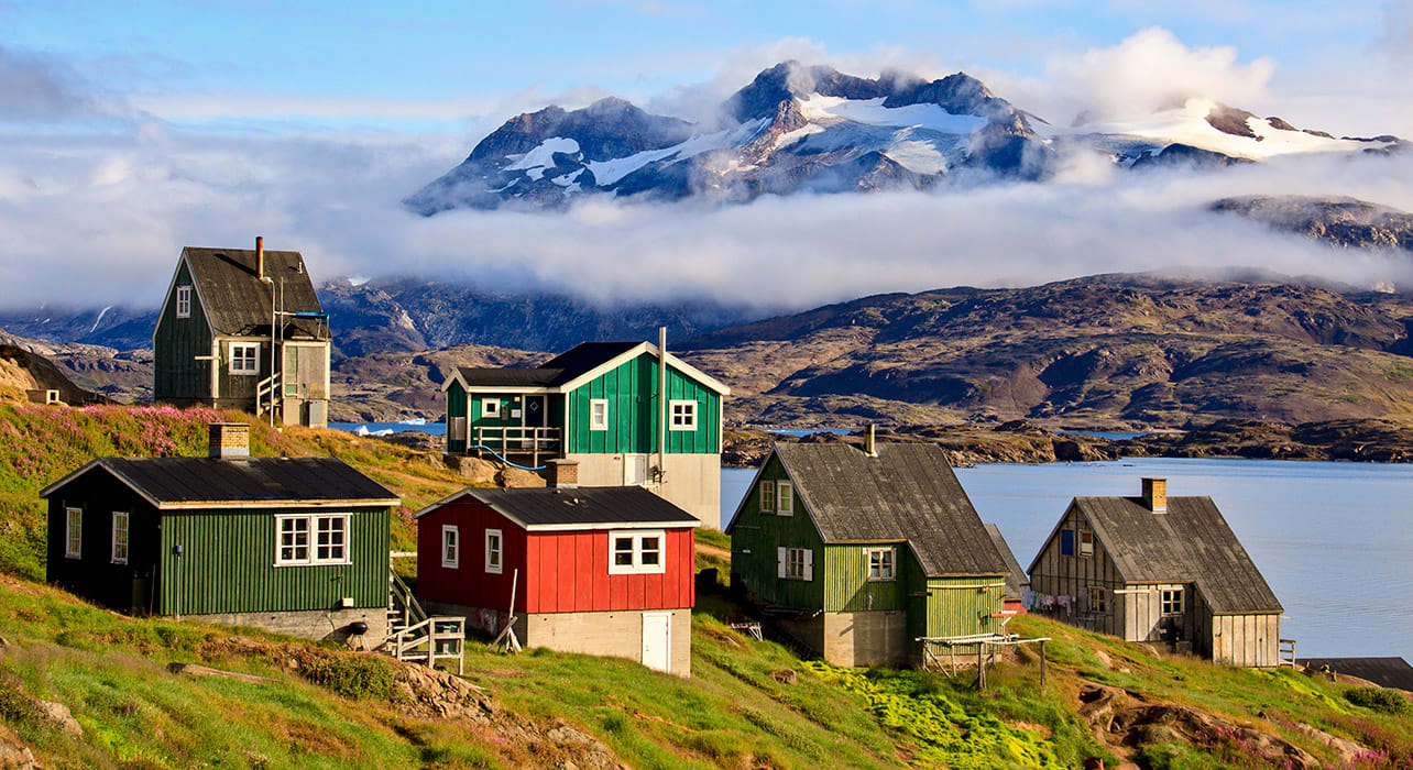 greenland colorful buildings
