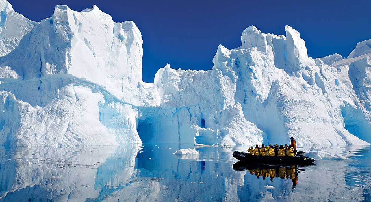 greenland lemaire channel iceberg boat